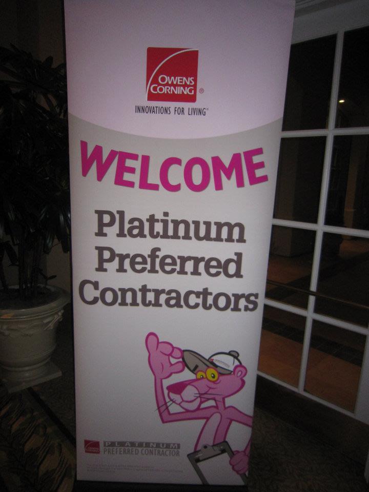 Owens Corning Platinum Preferred Celebration