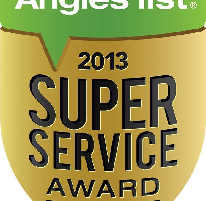 Cornerstone Roofing earns the 2013 Angie's List Super Service Award