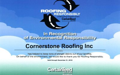 CertainTeed Roofing Responsibly Recycling Program Contractor