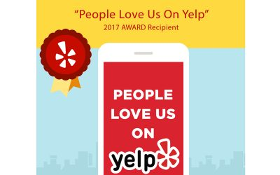 "2017 ""People Love Us On Yelp"" Award"