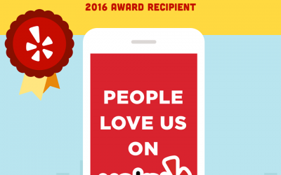 "2016 ""People Love us on Yelp"" Award Recipient"