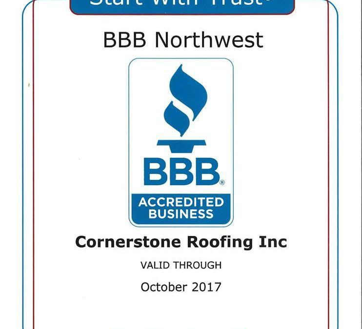 2017 Better Business Bureau Accredited Business Certificate