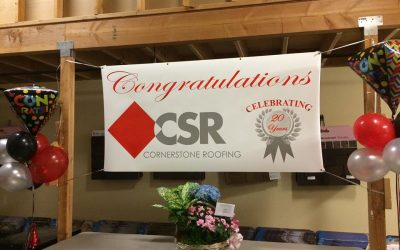 Cornerstone Roofing celebrates 20 years in business