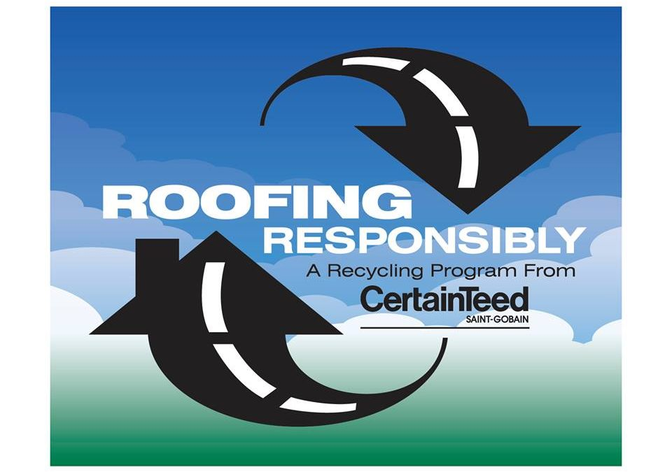 CertainTeed Roofing Responsibly Recycling Program Test