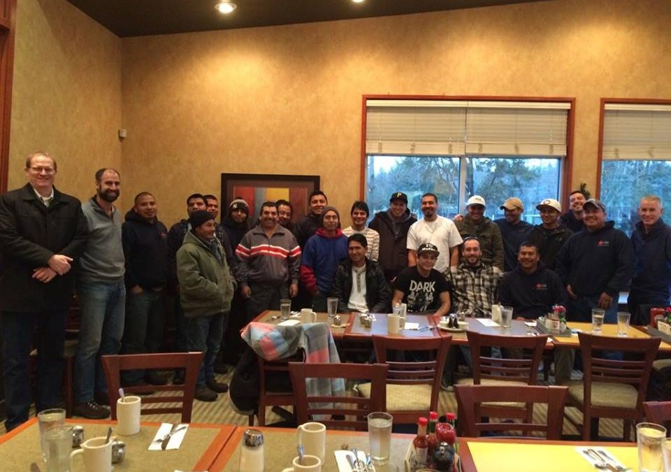Cornerstone Roofing 2015 Crew Christmas Breakfast