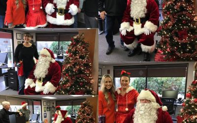 Santa Comes to Cornerstone Roofing