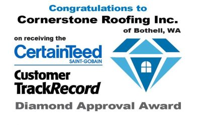 CertainTeed TrackRecord Diamond Approval Award 2015