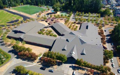 CertainTeed Landmark Weathered Wood Roof Installed on Saghalie Middle School in Federal Way