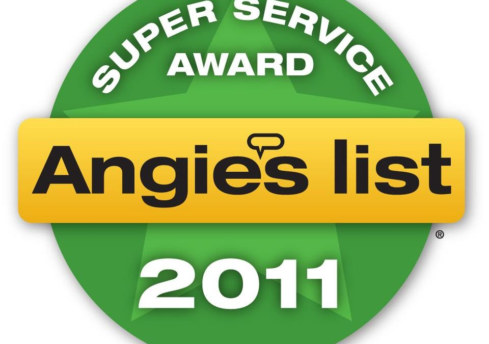 Cornerstone Roofing earns 2011 Angie's List Super Service Award