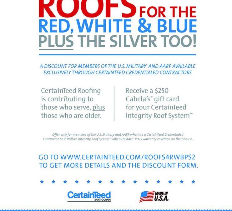 CertainTeed launches Roofs for the Red, White & Blue plus the Silver Too!