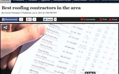 Flashback Friday: Cornerstone Roofing in KOMO News Segment on Best Roofing Contractors