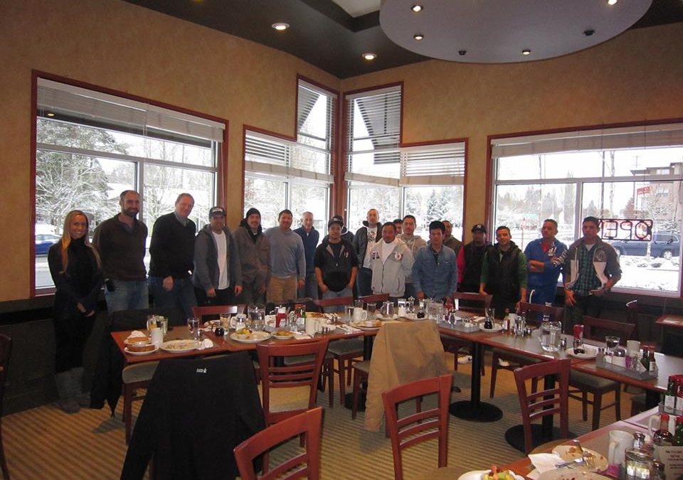 Cornerstone Roofing 2013 Crew Christmas Breakfast