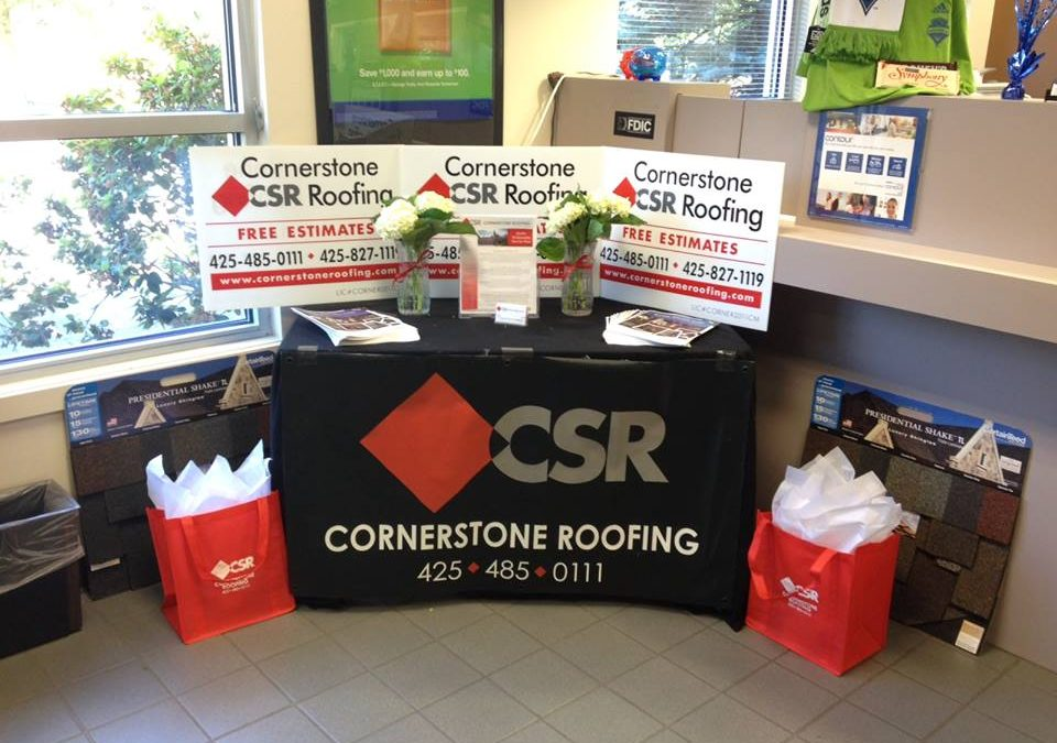 Cornerstone Roofing featured at US Bank