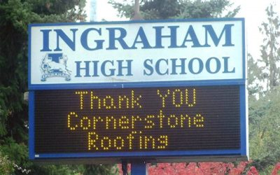 Cornerstone Roofing supports local High School Athletics Program