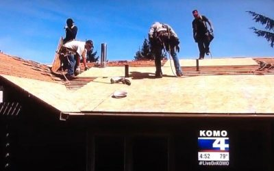 "Cornerstone Roofing is on KOMO 4 NEWS tonight as a ""Top Rating for Quality"" Roofer"