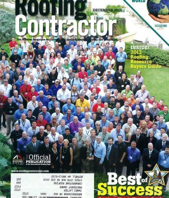 Cornerstone Roofing Owner at Roofing Contractor Magazine Best of Success Conference