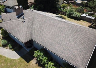 Asphalt Composition Shingle Roof before Roof Replacement in Edmonds Washington