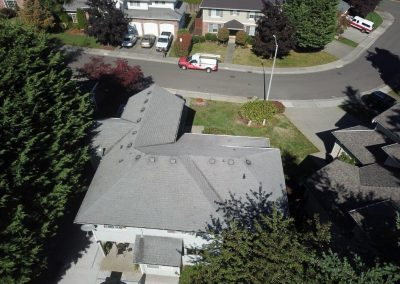 Asphalt Composition Shingle Roof before Roof Replacement in Lynnwood Washington