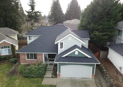 CertainTeed Landmark Cinder Black Asphalt Composition Shingle New Roof Replacement in Lynnwood Washington
