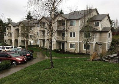 Asphalt Composition Shingle Roof on large apartment building before Roof Replacement in Lynnwood Washington