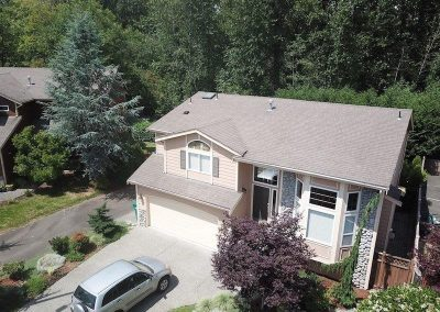 Asphalt Composition Shingle Roof before Roof Replacement in Bothell Washington