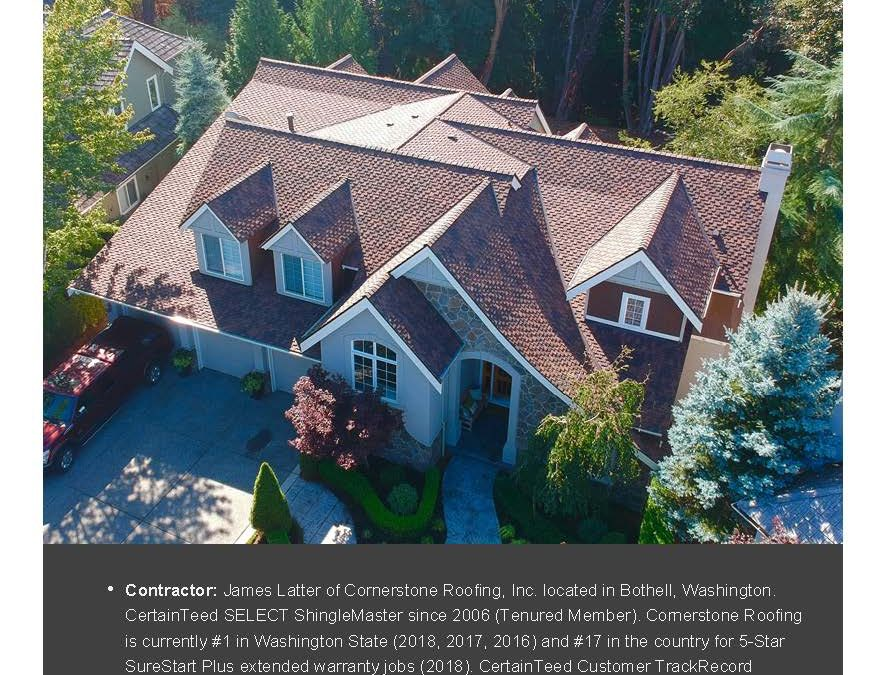 Cornerstone Roofing Project Featured in CertainTeed's Contractor's EDGE Quarterly