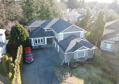 CertainTeed Landmark PRO Max Def Moire Black Asphalt Composition Shingle New Roof Replacement in Bothell Washington
