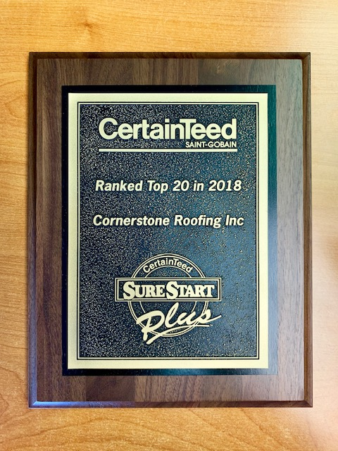Cornerstone Roofing Recognized As CertainTeed Top North American Roofing Contractor (#1 in WA, #17 in US)