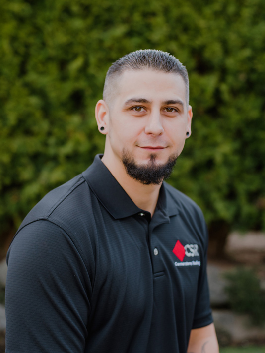 Cornerstone Roofing Repair Division Manager Michael Little who performs roof repairs, emergency roof leak repairs, roof inspections, roof ventilation repairs, skylight repairs and replacements, gutter repairs, and more.